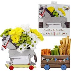 Party Ark's 'Belle & Boo Treat Time Donkey and Cart'