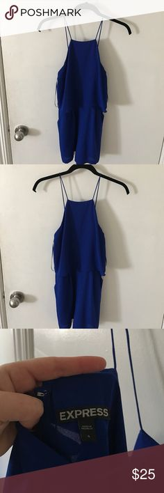 Blue one Piece Romper (shorts) Blue one piece romper. Bought a a wedding and didn't wear. Very cute one piece blue romper from Express Size 4. Express Other
