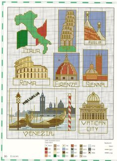 ru / Фото - Travel the world in gross stitch - Nice-Nata-san Cross Stitch House, Mini Cross Stitch, Cross Stitch Borders, Cross Stitch Samplers, Modern Cross Stitch, Cross Stitch Charts, Cross Stitch Designs, Cross Stitching, Cross Stitch Embroidery
