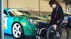 Nathalie McGloin was involved in a car accident as a teenager, leaving her with a major spinal cord injury. But that hasn't stopped her from becoming a hardcore Porsche racing driver, because she is fucking awesome. Spinal Cord Injury, Meet, Let It Be, Inspirational Thoughts, Woman
