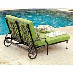 Amalfi Double Chaise -Cast Aluminium Chaise - Black Outdoor Chaise
