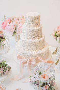 #WeddingCake !!! | See the Wedding on Style Me Pretty | Photography: Mango Studios