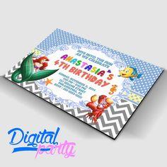 Birthday Invitation Card Digital File Unique Custom Diy