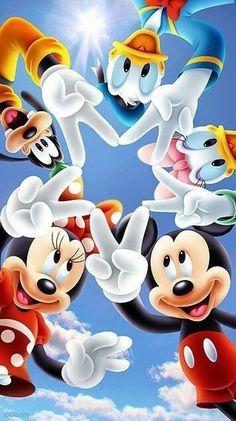 Minnie, Mickey & Friends - - Just to mess around - Disney Disney Mickey Mouse, Mickey Mouse E Amigos, Mickey Mouse Kunst, Mickey Mouse Cartoon, Baby Mickey, Mickey Mouse And Friends, Wallpaper Do Mickey Mouse, Snoopy Wallpaper, Disney Phone Wallpaper
