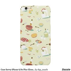Case Savvy iPhone Plus Glossy Finish Case Food Iphone Cases, Iphone Case Covers, Iphone 6, All Design, Cover Design, Graphic Design, 6s Plus, Illustrators, Create Your Own