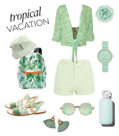 """FRESH TROPICAL VACATION"" by taliafzl ❤ liked on Polyvore featuring Balenciaga, Puma, Topshop, WearAll, Studio 33, bkr, Illesteva, Louis Vuitton, Monsoon and Nine West"