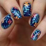 """2,438 Likes, 42 Comments - @lieve91 on Instagram: """"New mani-recreation of @melcisme design! She used water decals-I used my hand drawing skills🌺 All…"""""""