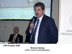Mosonyi György, a MOL-csoport vezérigazgatója a CSR Hungary Summiton