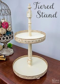 I've been on the hunt for a tiered stand for quite some time now. I found many different styles online, but the ones I liked were a bit pricey - story of my lif…