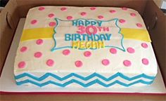 Sarah's Sweets - Gallery Chevron sheet cake