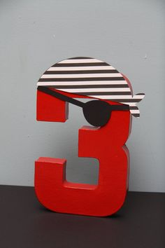 Pirate Paper Mache Letter or Number by CraftingCrew on Etsy, $10.00