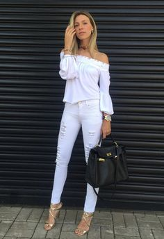 Fashion Tips 101 .Fashion Tips 101 Casual Work Outfits, Classy Outfits, Chic Outfits, Fashion Outfits, Fashion Tips, White Fashion, Look Fashion, French Fashion, Summer Outfits For Moms