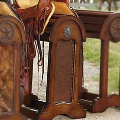 You've just gotta have a TOOLED SADDLE STAND in the house to display that expensive saddle and tack.