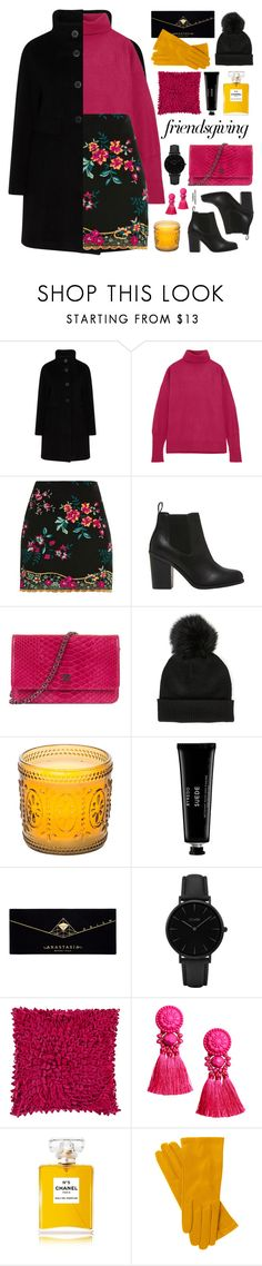 """Friendsgiving"" by mylkbar ❤ liked on Polyvore featuring Maison Margiela, Topshop, Lipstik, Chanel, Sole Society, Improvements, Byredo, Anastasia Beverly Hills, CLUSE and Décor 140"
