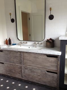 this vanity is amazing. and the tile floor too! mill valley house