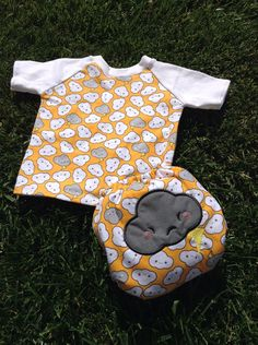 Little P would look awesome in this!  Cranky Cloud TShirt and Cloth Diaper Set by LittleButtDiapers, $55.00