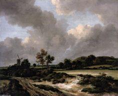 Grainfields, huile sur toile de Jacob Isaakszoon Van Ruisdael (Ruysdael) (1628-1682, Netherlands)