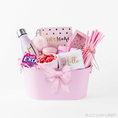 These color coordinated gift baskets are fun, functional and perfect for any occasion!