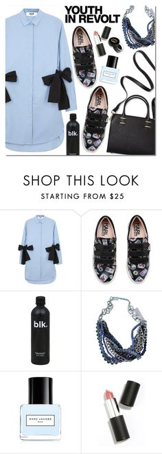 """Shirtdress"" by bibibaubau ❤ liked on Polyvore featuring MSGM, Humble Chic, Karl Lagerfeld, Kenneth Cole, Hedi Slimane, Marc Jacobs, Sigma Beauty and Gucci"