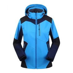 51.29$  Buy here - http://ais8w.worlditems.win/all/product.php?id=32595873761 - Womens Water-resist Snow Active Soft Shell Hooded Jacket