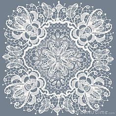 Lace doily patterns.With elements abstract flowers