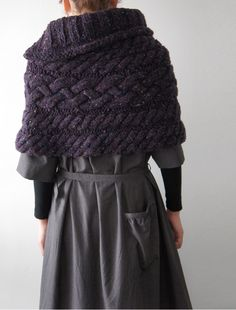 Knitting Pattern For A Cape : Crochet PATTERN, cable capelet, bulky neckwarmer, infinity scarf, loop scarf,...