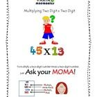Math #Mnemonics helps you to remember the steps in multiplying a two digit by a two digit.