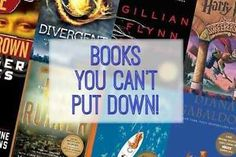 Books You Can't Put Down | eBay. I've read most if these and loved them all. It's safe to say the others are probably great too!