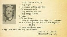 Roots from the Bayou : Family Recipe Friday ~ Cocoanut Balls