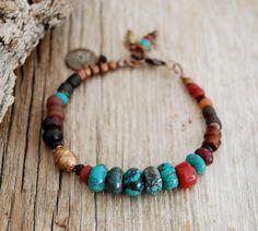 boho bracelet lotus yoga bracelet gypsy bracelet by OmSaha