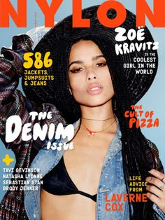 Zoe Kravitz stuns on the Nylon Magazine cover - http://www.nollywoodfreaks.com/zoe-kravitz-stuns-on-the-nylon-magazine-cover/
