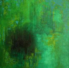 Monocromo verde Massimo Dell'Armi #pittoricontemporanei
