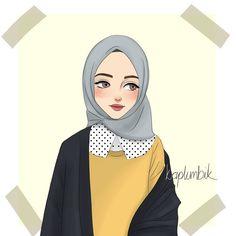 Reference:unknown… Kapalı Kız Çizimi /How to draw hijab girl - hijab ideas Muslim Fashion, Hijab Fashion, Fashion Art, Hijab Drawing, Islamic Cartoon, Anime Muslim, Hijab Cartoon, Islamic Girl, Fashion Wallpaper