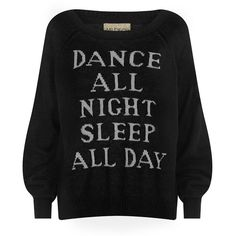 Wildfox Dance All Night Sweater (965 BRL) ❤ liked on Polyvore featuring tops, sweaters, shirts, jumpers, acrylic sweater, wildfox tops, shirt sweater, long sleeve shirts and wildfox shirt