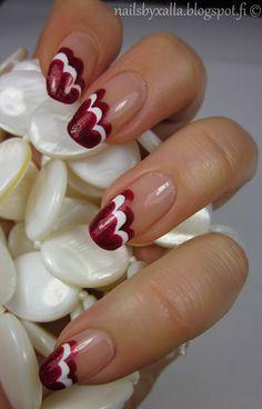 Nails by Xalla: Pilvimanikyyri, joka tahattomasti sopi bilispalloon...