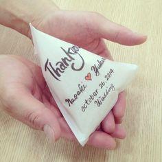 新米夫婦からゲストへ♡可愛すぎる『みと米穀』のオリジナルお米プチギフトがおしゃれ* | marry[マリー]