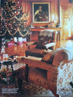 Christmas in an English manor house