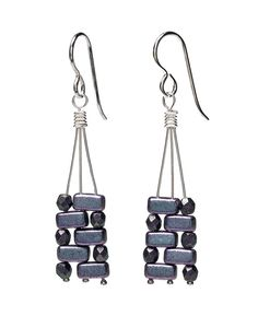 Brick bead geometric earrings