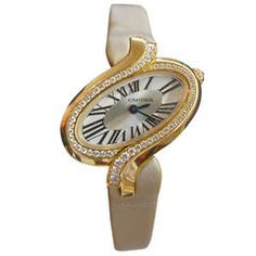 Cartier Lady's Rose Gold and Diamond Delice Wristwatch