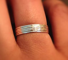 Sterling Silver 5 Ring Stack SetMicro Skinny by ArkensJewelryBox, $27.00