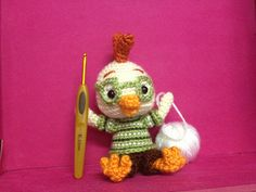 """Little Chicken Doll Toy Amigurumi - Free English Pattern - PDF File, click """"download"""" here: http://www.ravelry.com/patterns/library/little-chicken-doll-toy"""