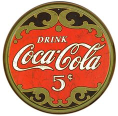 Coca-Cola 1900's 5 cents Vintage Retro Metal / Tin Sign. Description from ebay.com. I searched for this on bing.com/images