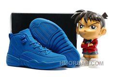 """sports shoes 82999 e6146 Kids Air Jordan 12 """"Blue Suede"""" 2016 Super Deals, Price   93.49 - Air Jordan  Shoes, Michael Jordan Shoes"""