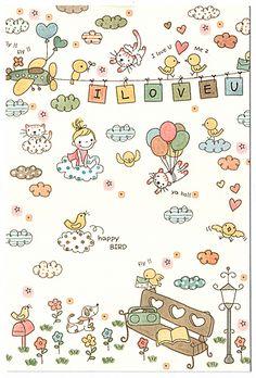 Designed By Yellow Submarine Doodle Drawings, Cartoon Drawings, Easy Drawings, Doodle Art, Kawaii Doodles, Cute Doodles, Drawing For Kids, Art For Kids, Planner Doodles