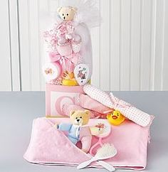 B-Is-For-Baby Girl Block Shaped Gift Box