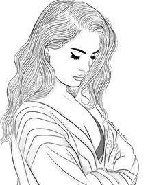 Lana Del Rey Coloring Pages – Play coloring with us Tumblr Girl Drawing, Tumblr Sketches, Girl Drawing Sketches, Cute Drawings, Tumblr Outline Drawings, Cute Coloring Pages, Coloring Books, Girl Outlines, Outline Art