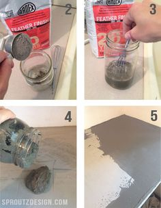 How to do concrete countertops. This way sounds easy.