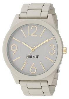 Nine West NW/1678NTNT. Reloj con brazalete recubierto de caucho natural mate. Para mujer