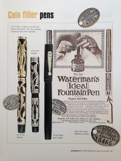 Waterman: Past and Present Max Davis & Gary LehrerPage 27https://www.gopens.com/Vintage_Pen_Parts/WatermanBook.php