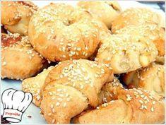 ΤΥΡΟΠΙΤΑΚΙΑ ΜΕ ΤΗΝ ΠΙΟ ΕΥΚΟΛΗ ΖΥΜΗ ΤΥΡΙΟΥ ΜΕ 3 ΥΛΙΚΑ!!! - Νόστιμες συνταγές της Γωγώς! Greek Recipes, Bagel, Food And Drink, Bread, Brot, Greek Food Recipes, Baking, Breads, Buns